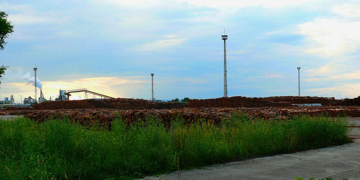 A Falco gyár hátsó udvara