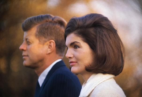 John F. Kennedy. Jackie Kennedy.