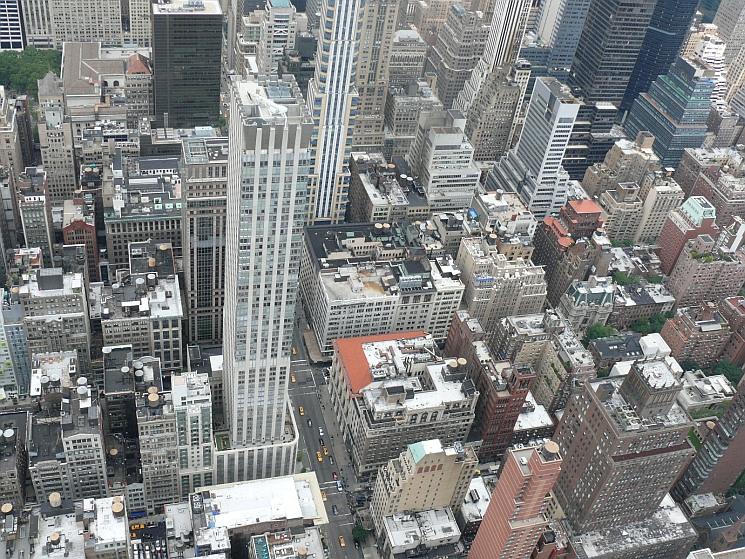 New York, kilátás az Empire State Buildingről