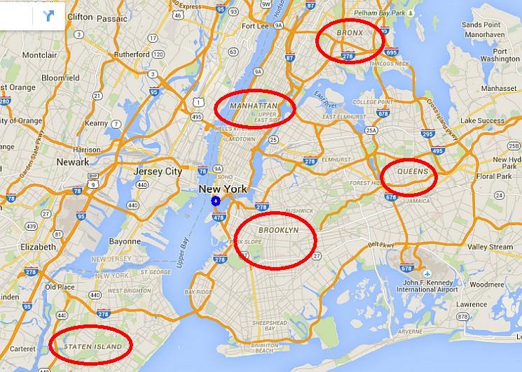 New York térkép