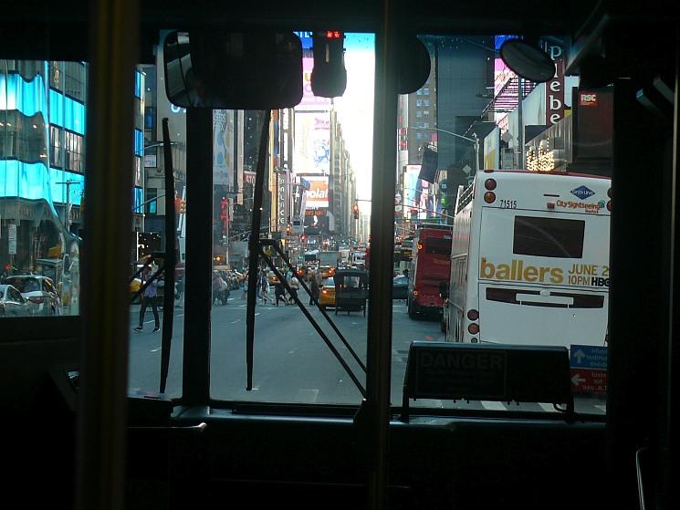 New York a buszból