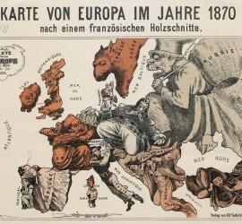 Szatirikus Európa térkép 1870-ből
