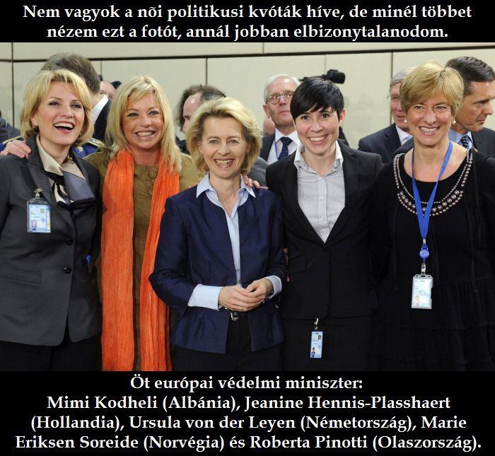 Öt európai védelmi miniszter