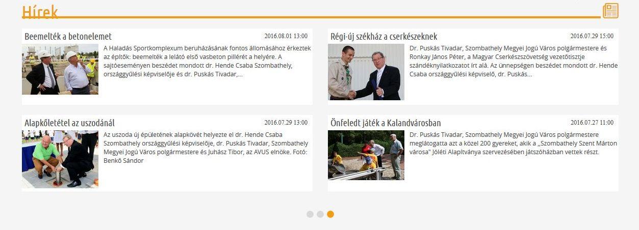 Puskás Tivadar a várpsi honlapon