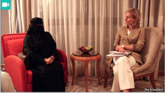 Szaús-arábiai politikusnő interjúja