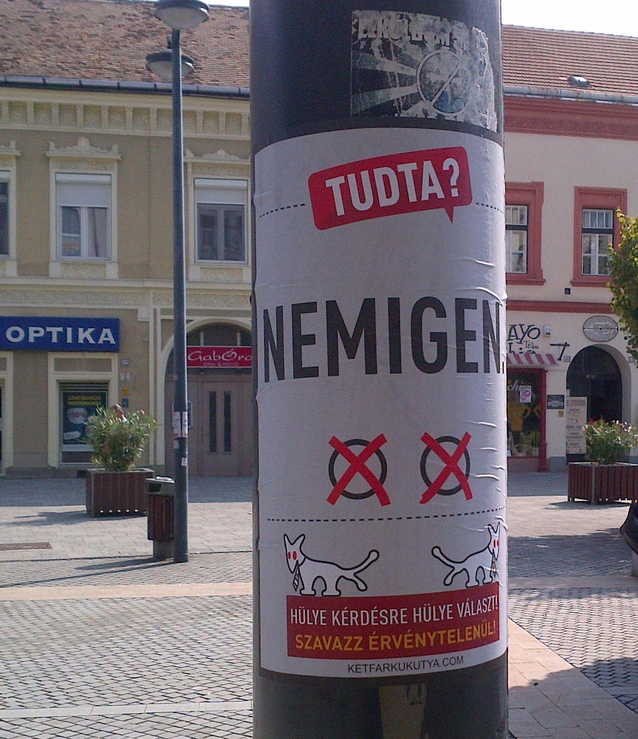 Kétfarkú Kutyapárt szombathelyi poszterei