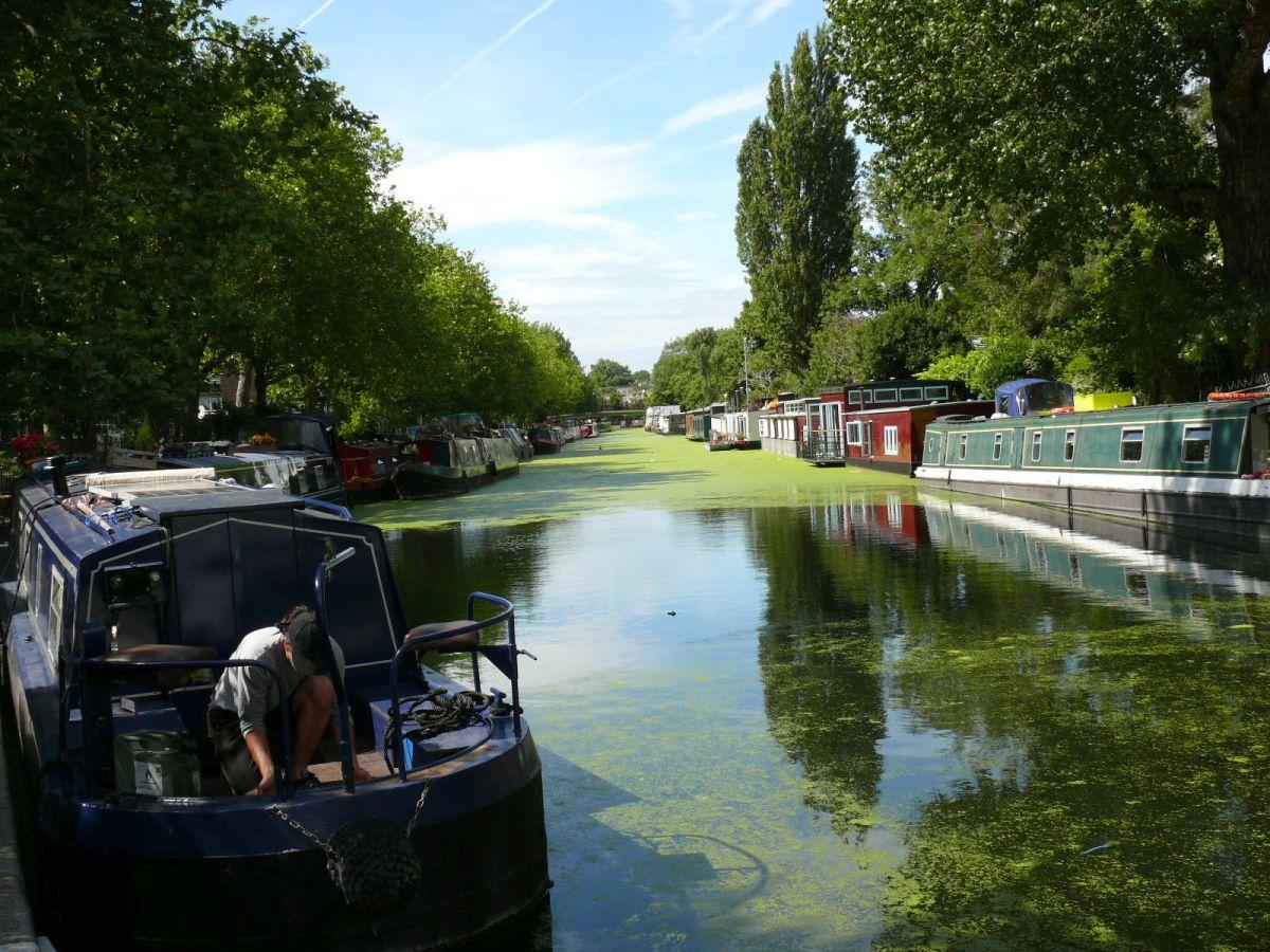 London, lakóhajók a Regents csatornán