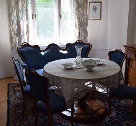 A nappalit Csinszka eredetileg nagy társaséletetnek szánta, de a költő betegsége ezt erősen korlátozta